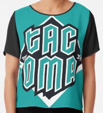 Copy of Tacoma but in teal! Chiffon Top