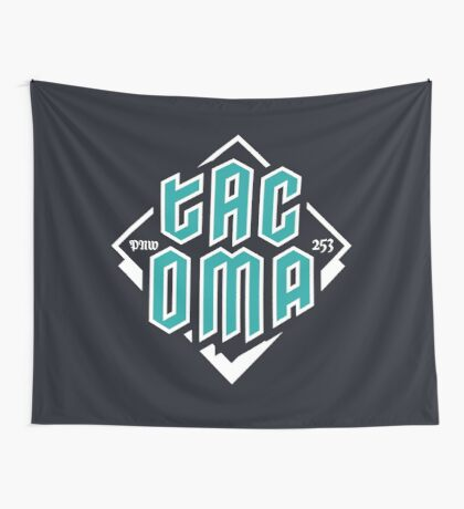 Copy of Tacoma but in teal! Wall Tapestry