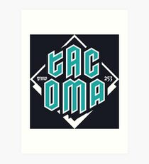 Copy of Tacoma but in teal! Art Print