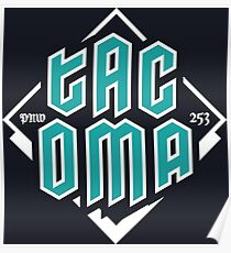 Copy of Tacoma but in teal! Poster