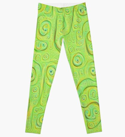 Deep Dreaming of a Green World 4K Leggings
