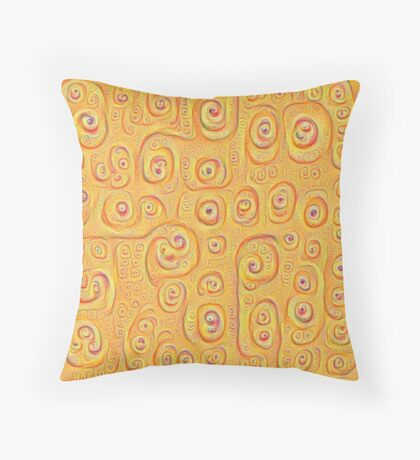 Deep Dreaming of a Yellow-Orange World 4K Throw Pillow