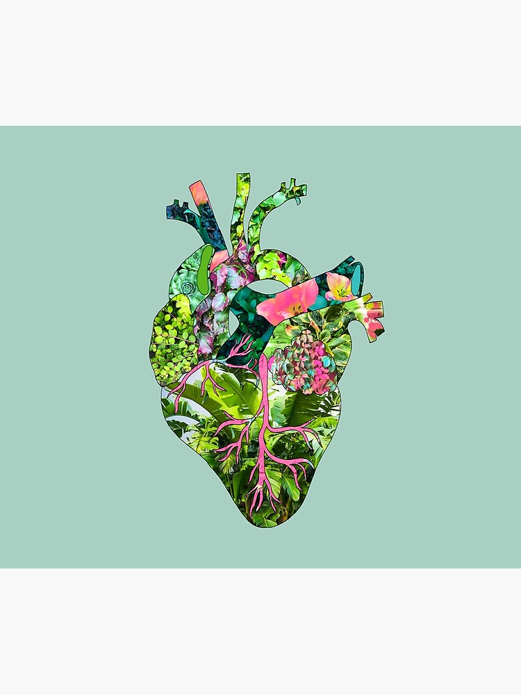 Botanical Heart Mint by BiancaGreen