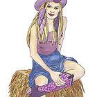 Purple Sage Cowgirl by redqueenself