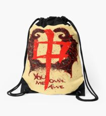 YOU OWE ME AWE 2 Drawstring Bag