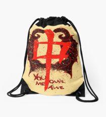 YOU OWE ME AWE 2 Drawstring Bag