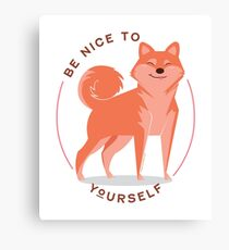 Be Nice to yourself Canvas Print
