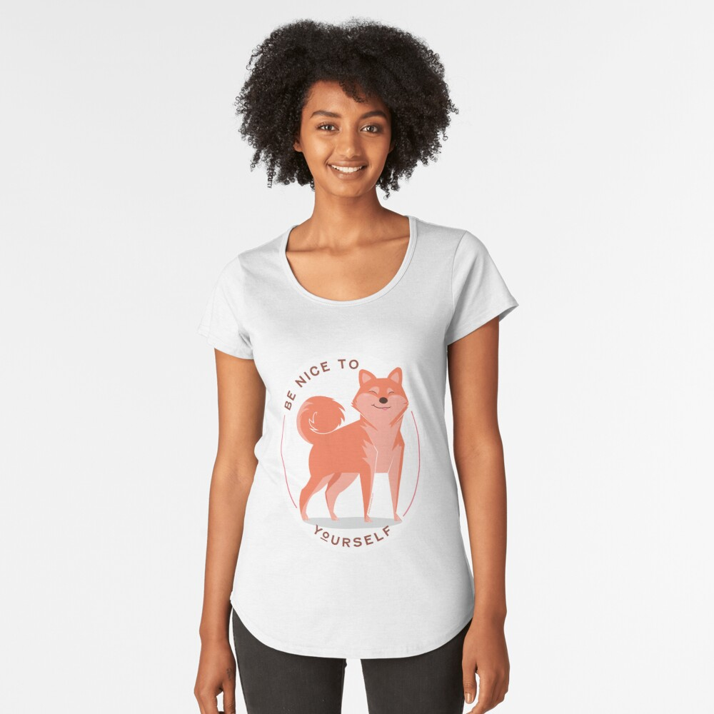 Be Nice to yourself Premium Scoop T-Shirt