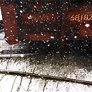 march. railroad snow 1 by Nikolay Semyonov