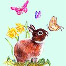 BUNNY AND BUTTERFLIES by Judy Mastrangelo