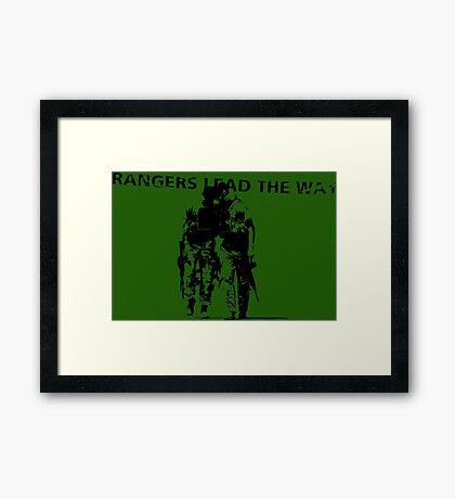Rangers Lead the Way - U.S. Army  Framed Print