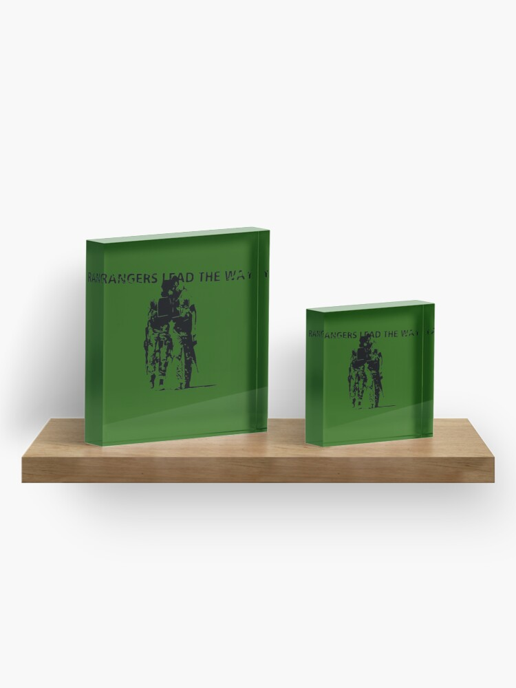 Alternate view of Rangers Lead the Way - U.S. Army  Acrylic Block