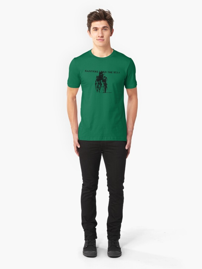 Alternate view of Rangers Lead the Way - U.S. Army  Slim Fit T-Shirt