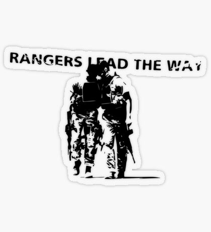 Rangers Lead the Way - U.S. Army  Transparent Sticker