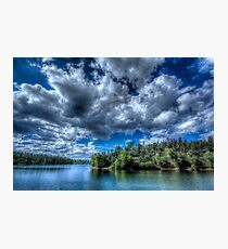 Lynx lake, Blue Green Photographic Print