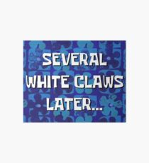 Several White Claws later Art Board Print