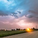 Country Dirt Road Storm Chase by Bo Insogna