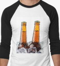 Beers on ice cubes whit water drops T-Shirt