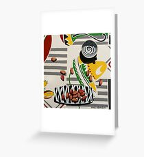 Swirly Cup and Pistachio Nuts Greeting Card