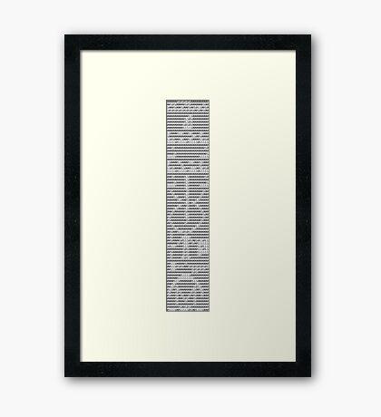The Arecibo Message 0010 - Terminal Framed Print