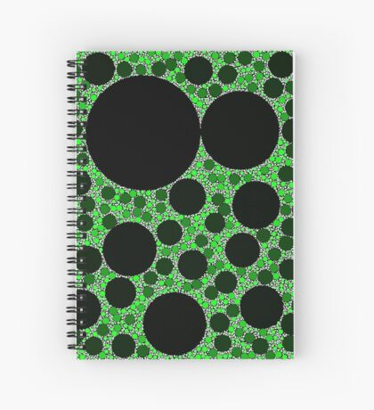 Random Tiling Green Spiral Notebook