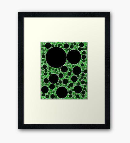Random Tiling Green Framed Print