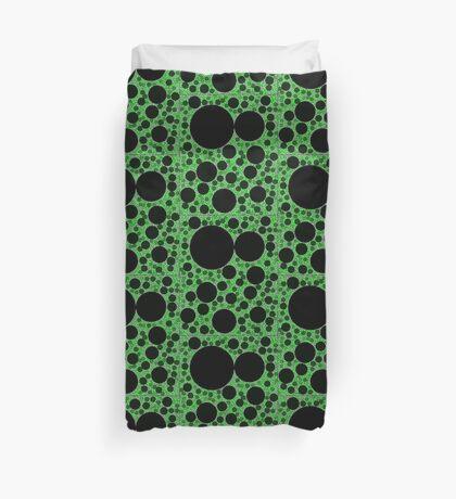 Random Tiling Green Duvet Cover