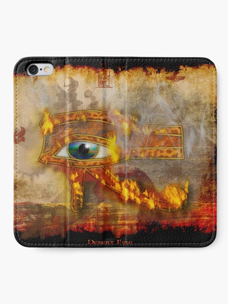 Alternative Ansicht von Desert Fire iPhone Flip-Case