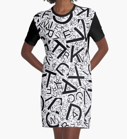 Random Letters - Created with Processing Graphic T-Shirt Dress