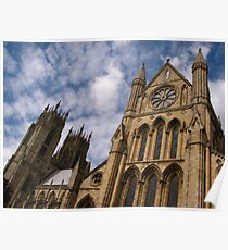 South Transept & West Towers, Beverley Poster