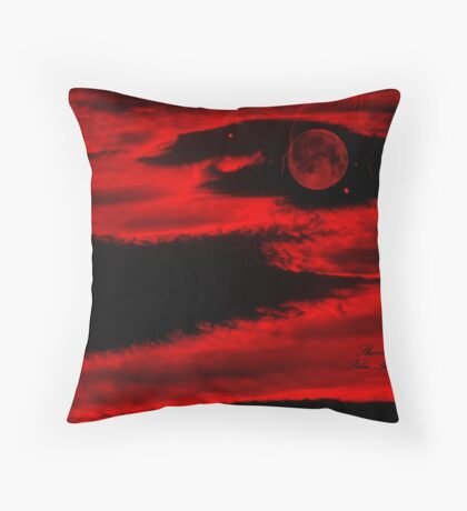 PLANET IN FURY!!!  ENIGMA!! Throw Pillow