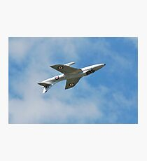 Hawker Hunter jet inverted Photographic Print