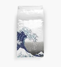 Great Wave, Hokusai 葛飾北斎の神奈川沖浪 Duvet Cover