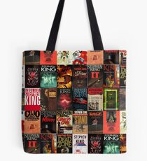 Stephen King-Buch-Cover-Collage Tote Bag