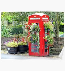 Telephone Box - Spofforth - North Yorkshire Poster
