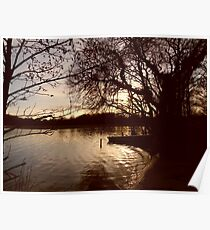 Trout Lake at Sunset Poster