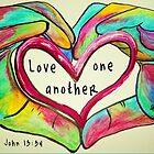LIEBE einander Johannes 13: 34 von EloiseArt