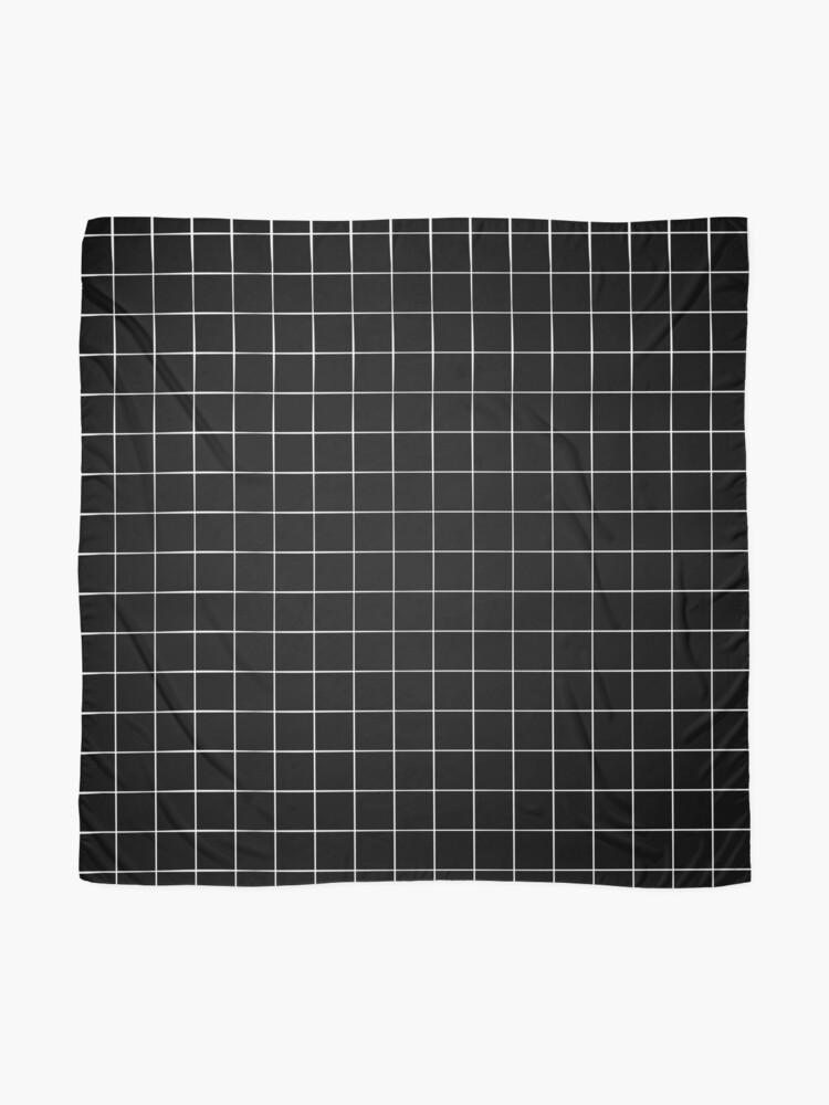 Alternate view of Black Grid Scarf