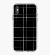 Schwarzes Gitter iPhone-Hülle & Cover