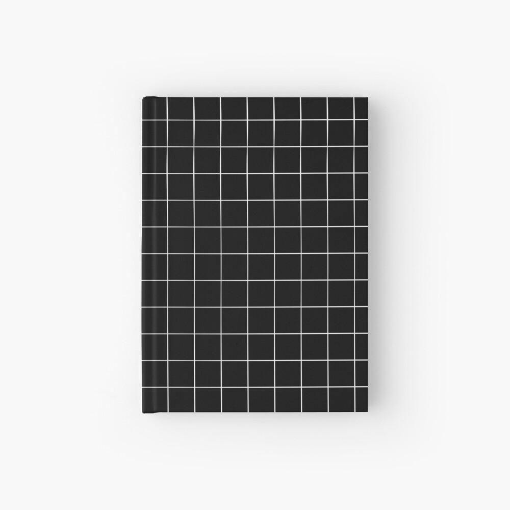 Black Grid Hardcover Journal