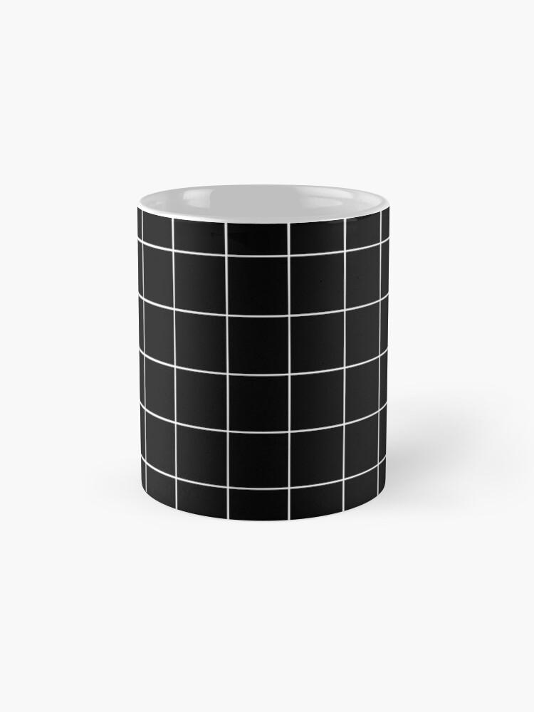 Alternate view of Black Grid Mug