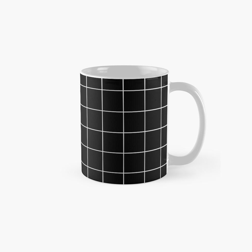 Black Grid Mug