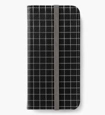 Schwarzes Gitter iPhone Flip-Case/Hülle/Klebefolie