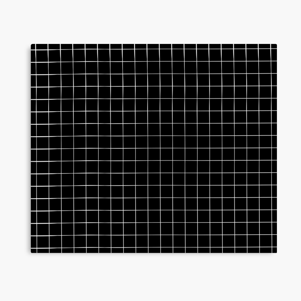Black Grid Canvas Print