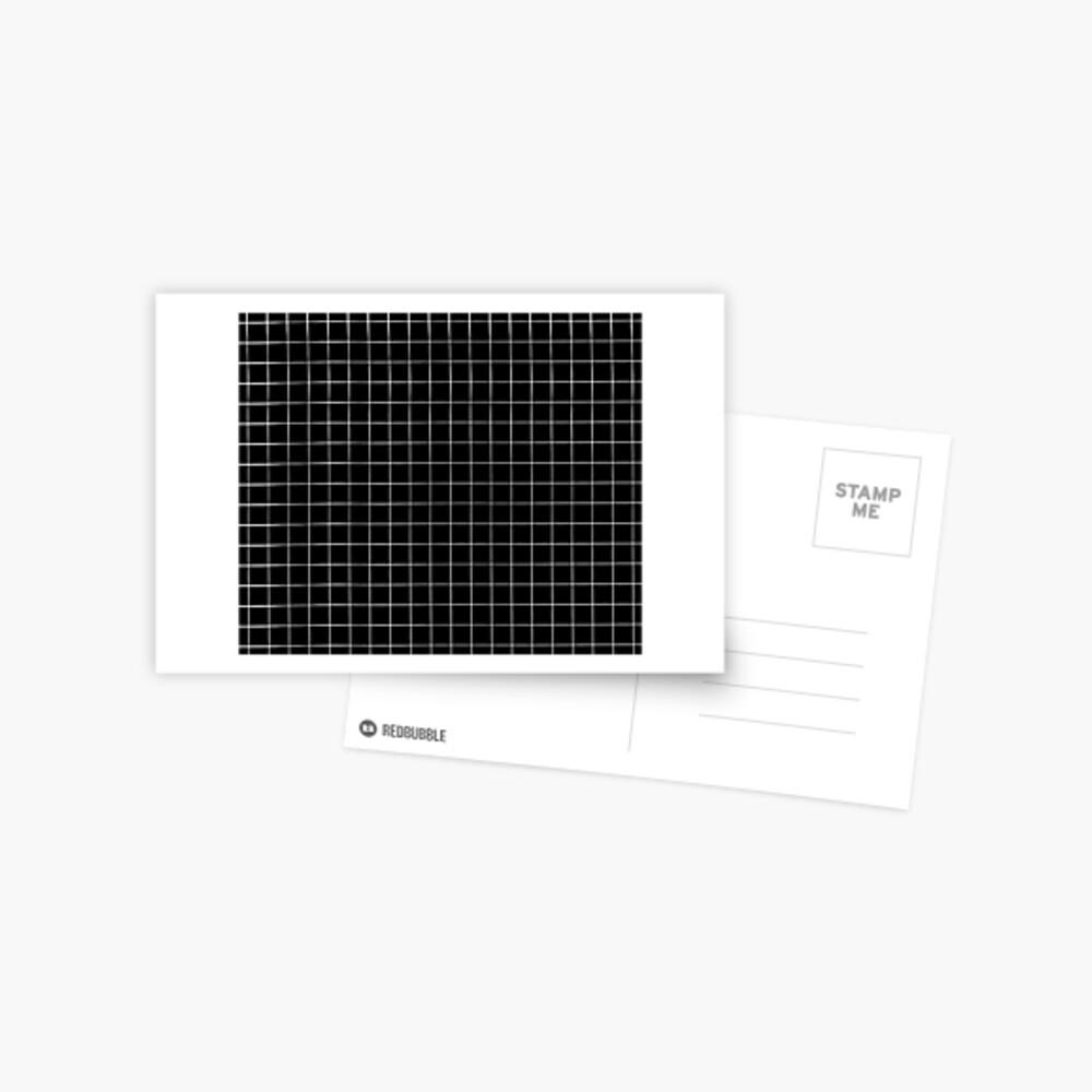 Black Grid Postcard
