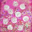 Hazy meadow.  magenta by sue mochrie