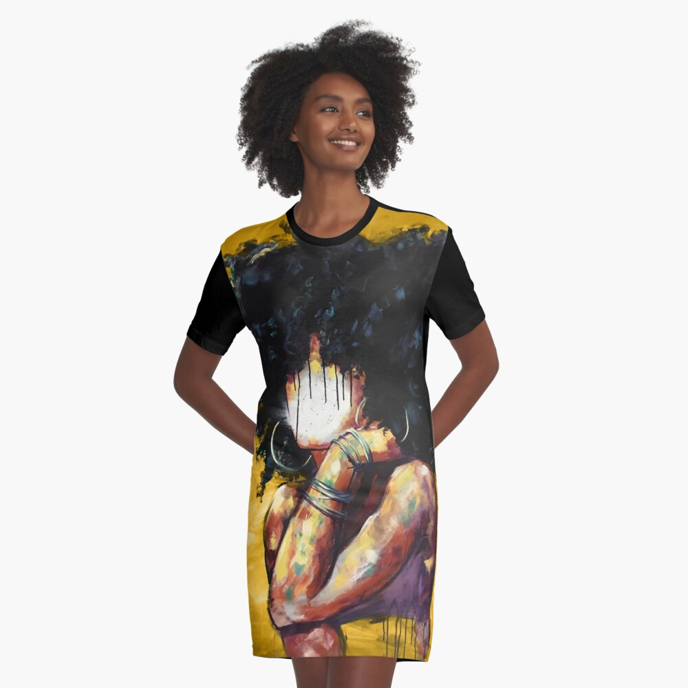 Naturally II GOLD Graphic T-Shirt Dress