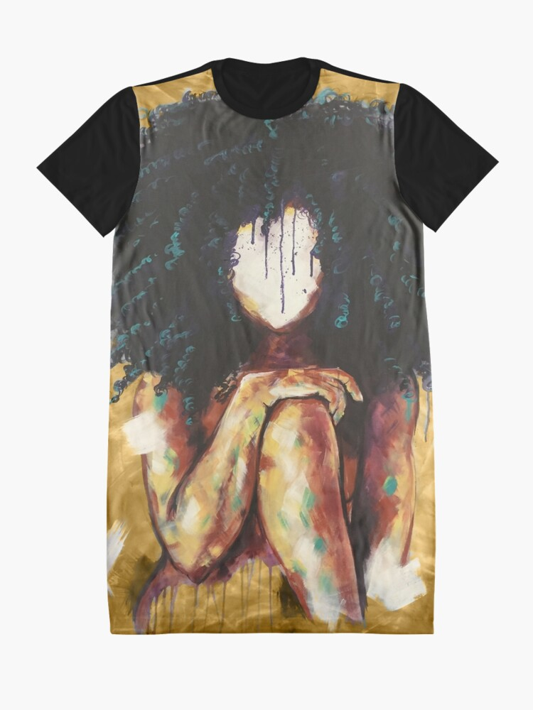 Alternate view of Naturally I GOLD Graphic T-Shirt Dress