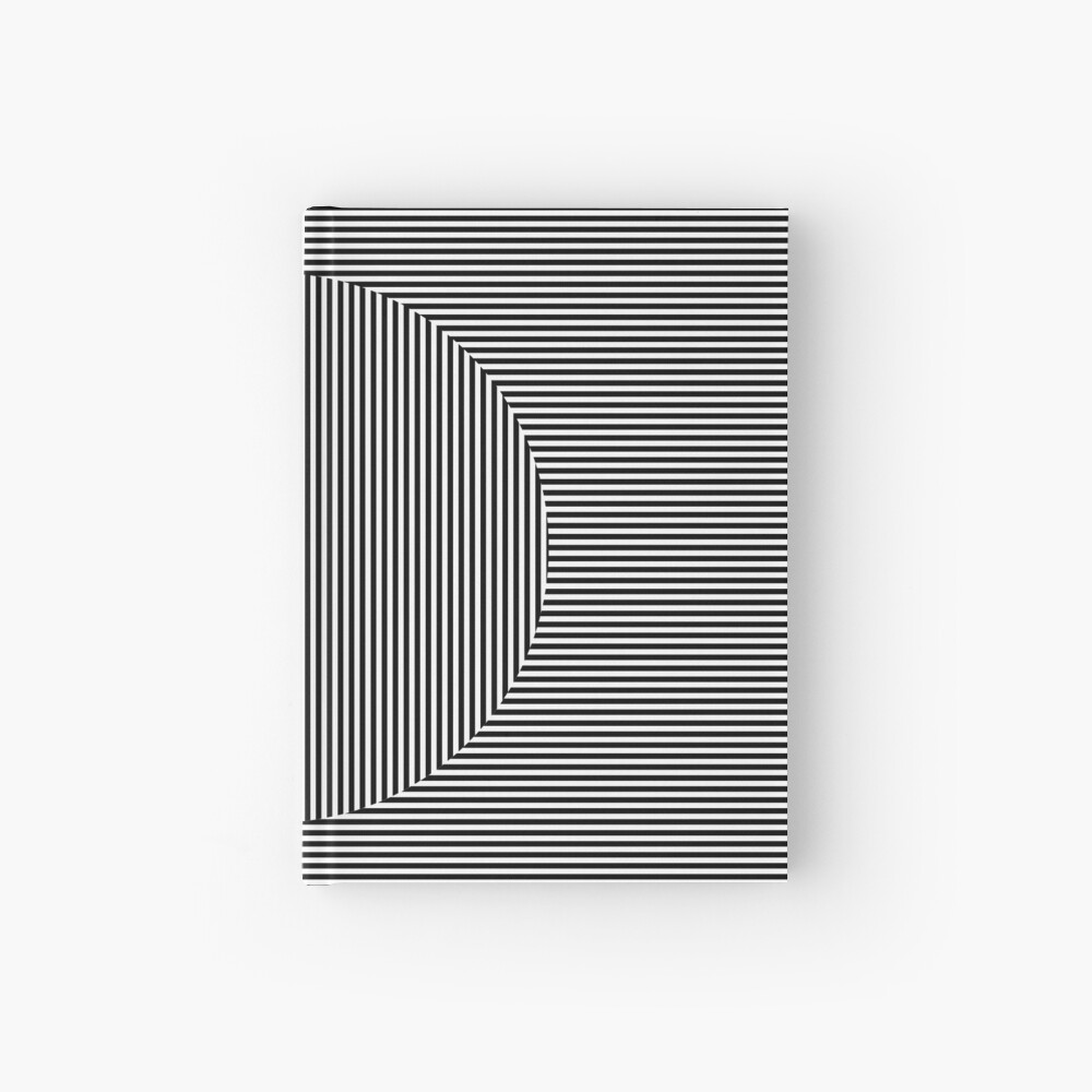 Optical art: flat parallel stripes create a moving circle Hardcover Journal