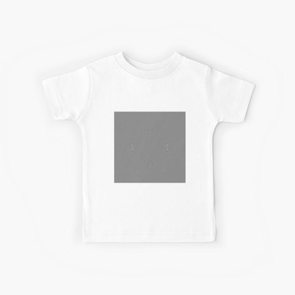 Optical art: flat parallel stripes create a moving circle Kids T-Shirt